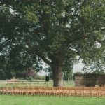 folk festival wedding setting