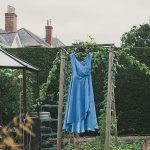 folk festival wedding dress blue