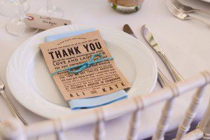 rustic wedding thank you