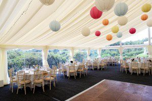 rustic wedding reception setting