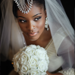 Two Ceremony Wedding bride with bouquet