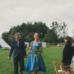 folk festival wedding dress