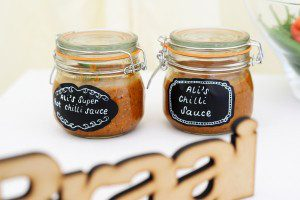rustic wedding condiments