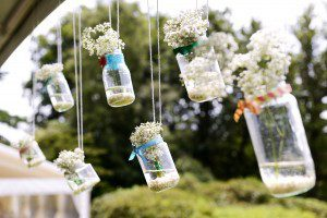 rustic wedding hanging display
