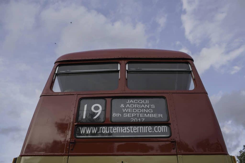 Jacqui & Adrian urban wedding Hoxton london bus