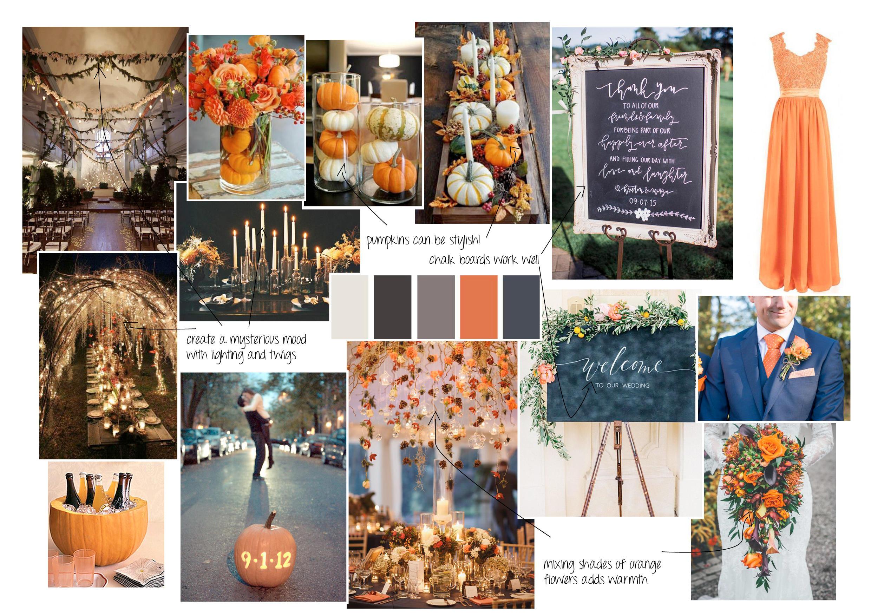 Halloween spooky weddings moodboard