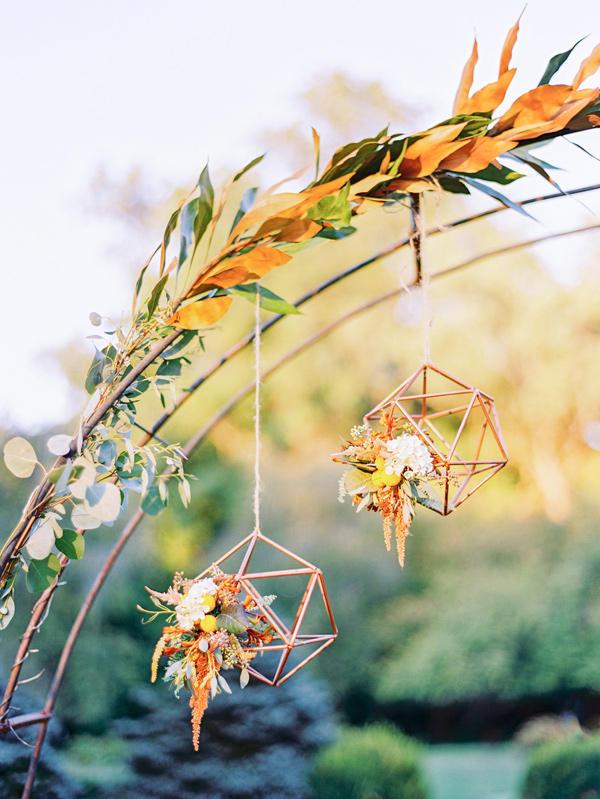 copper trend floral details