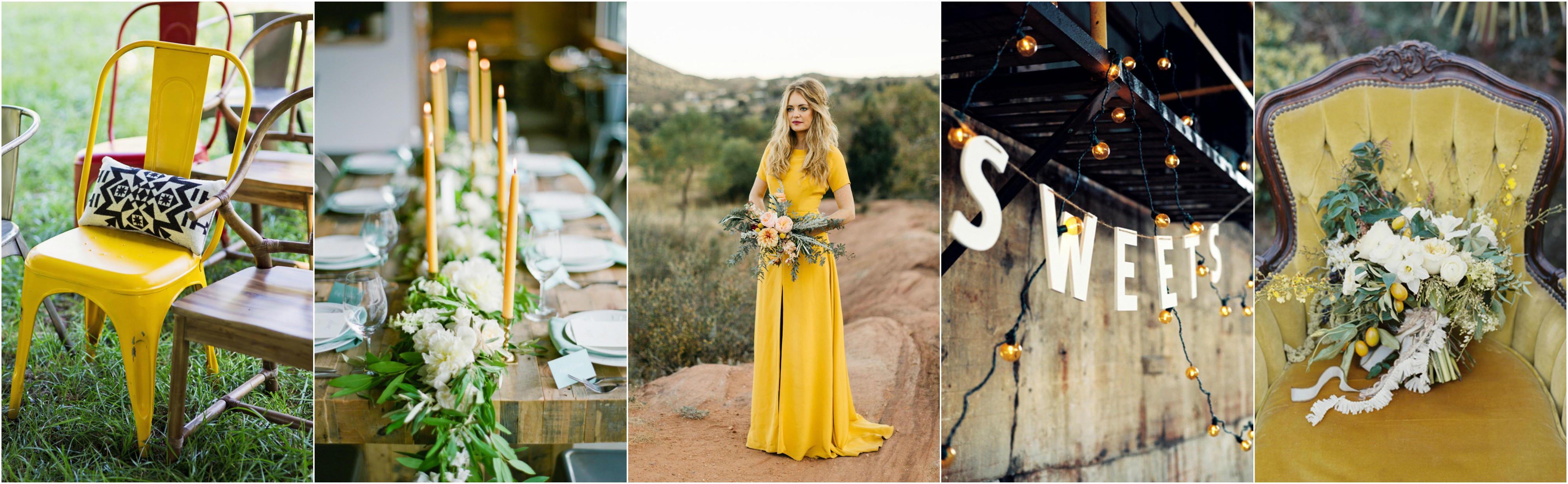 spring wedding mustard yellow colour shceme