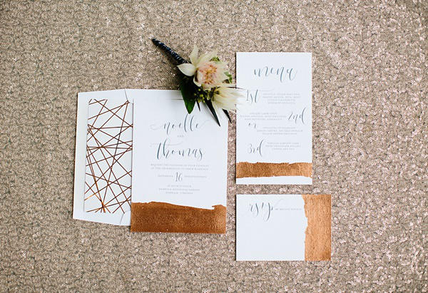 copper trend wedding stationery