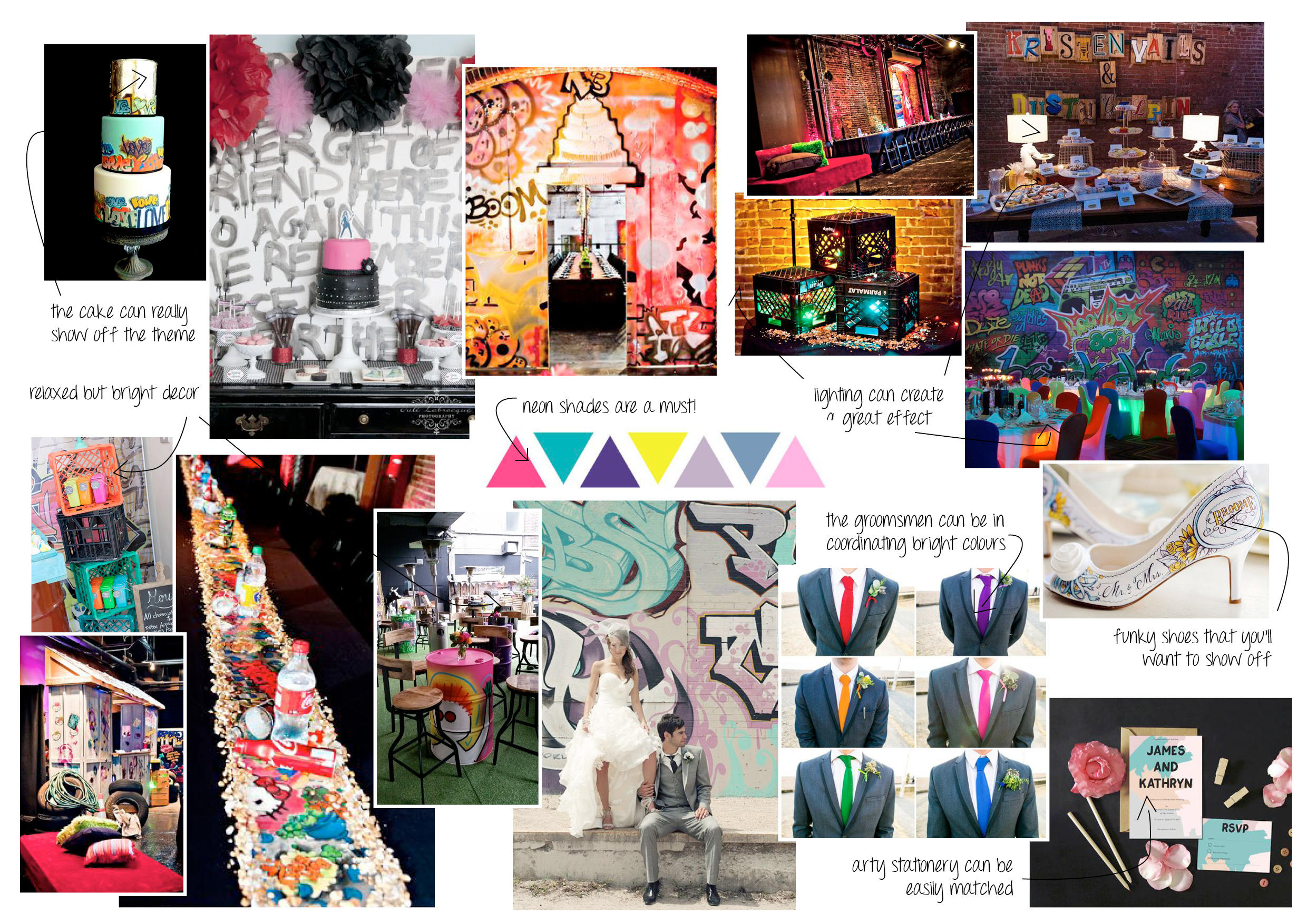 Moodboard of the Month – Street Art Wedding!