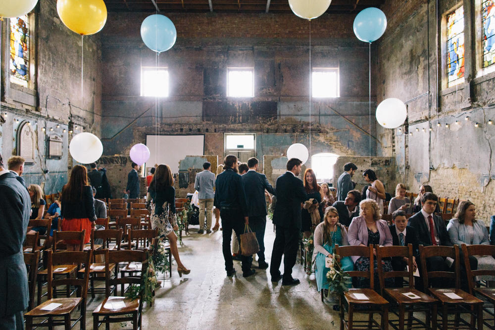 London Wedding Planner warehouse wedding