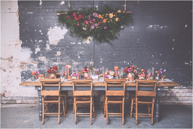 romantic industrial table styling