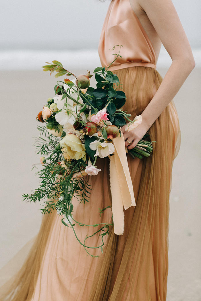copper trend bridal styling