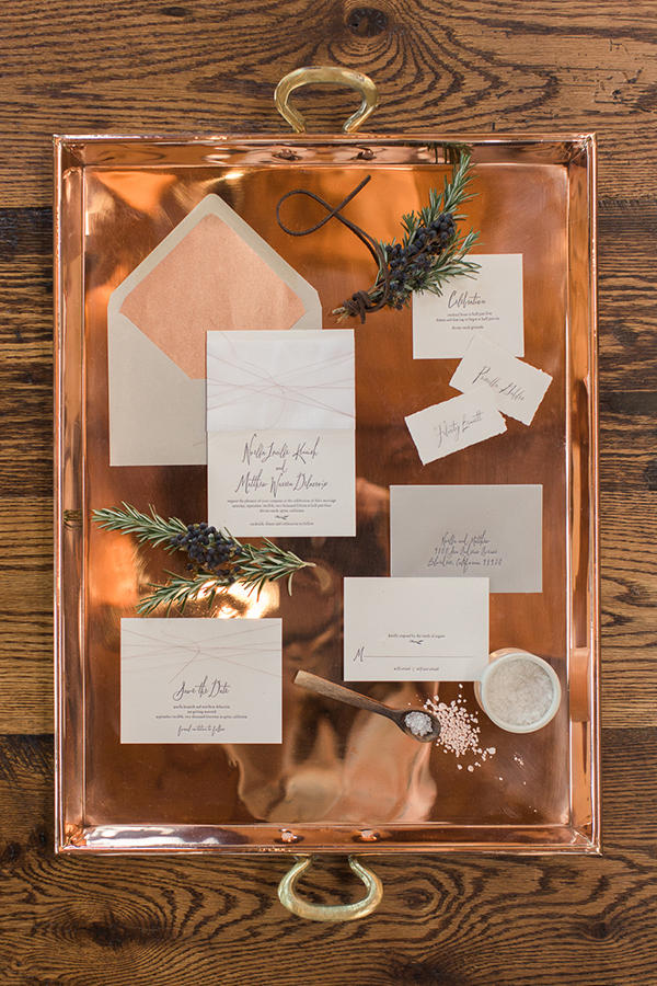 copper trend wedding styling idea