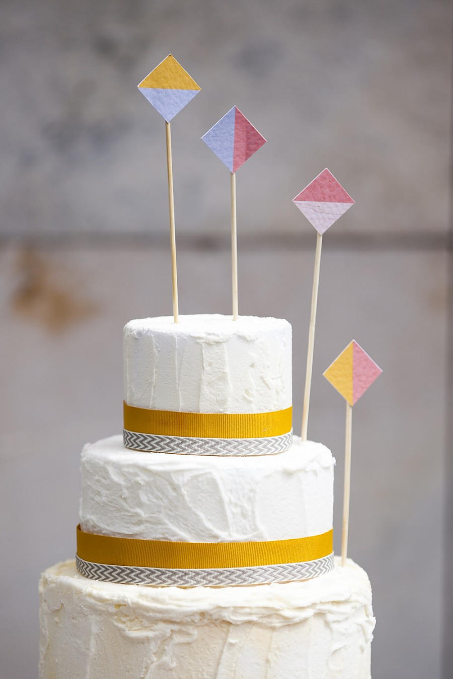 simple plain warehouse wedding cake