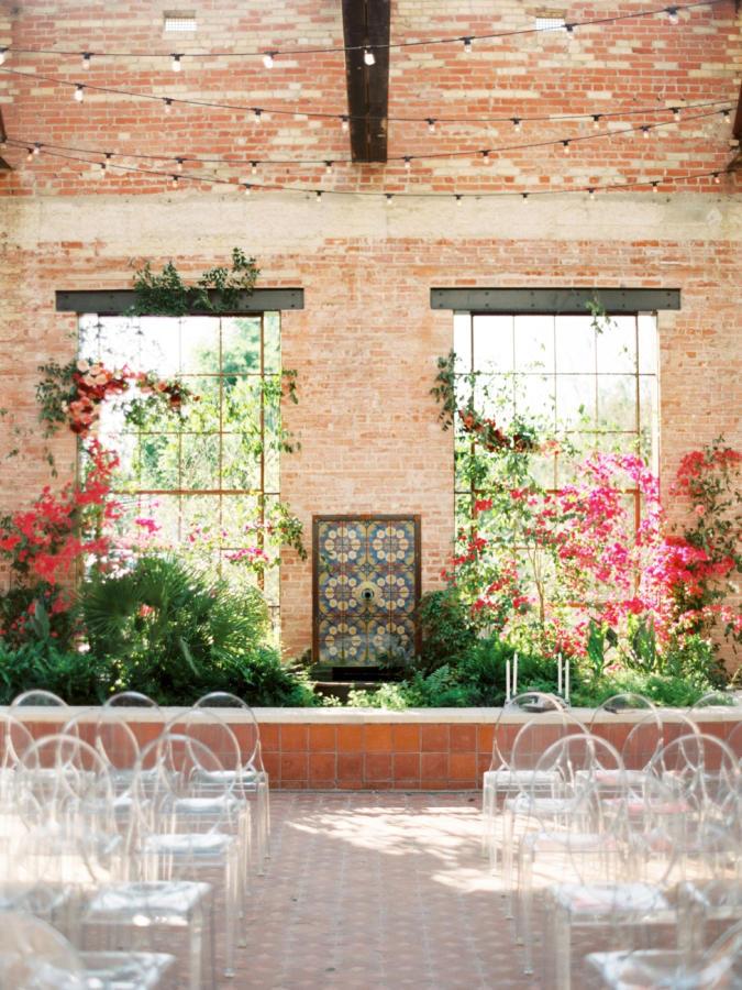 tropical wedding modern floral