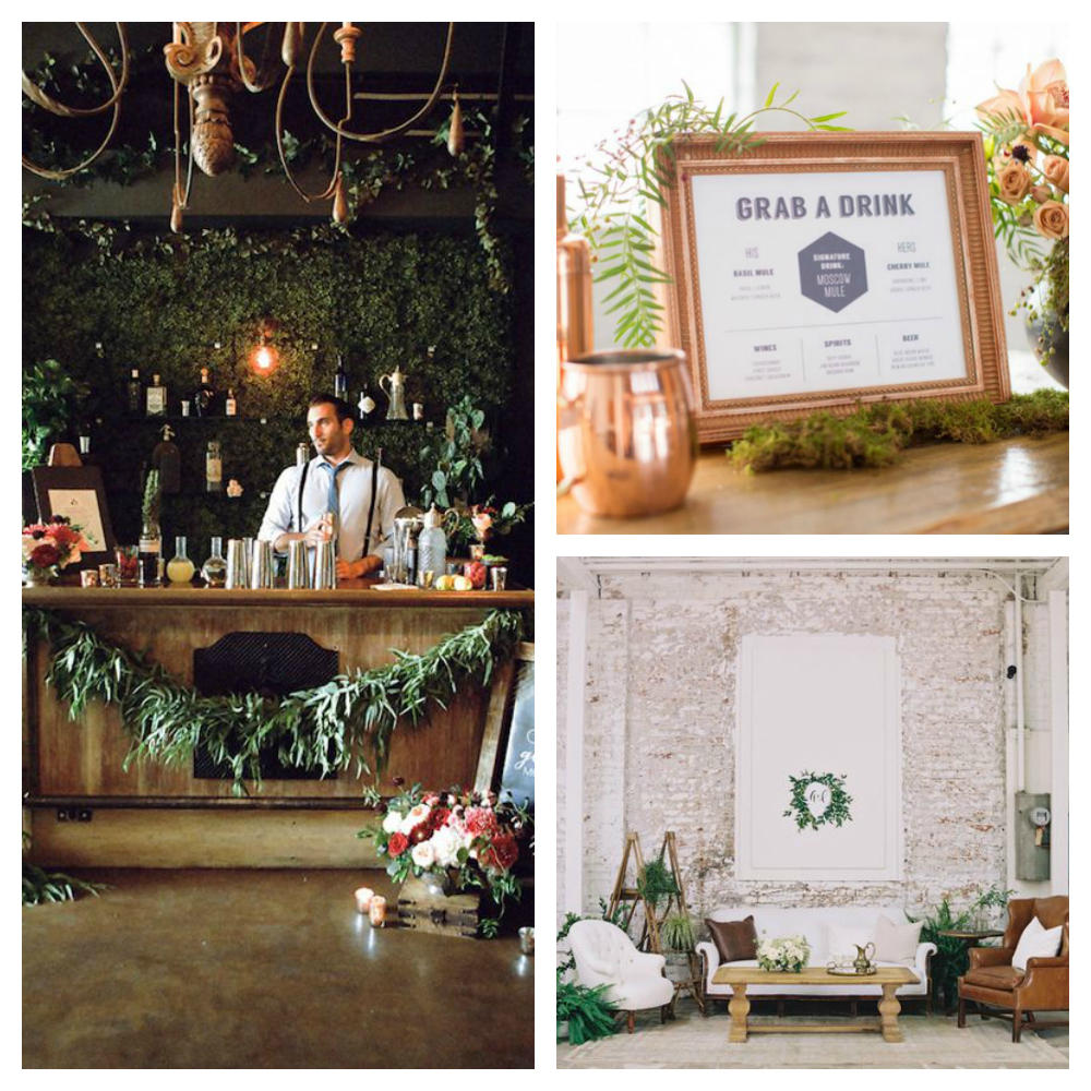 wedding details custom bar ideas