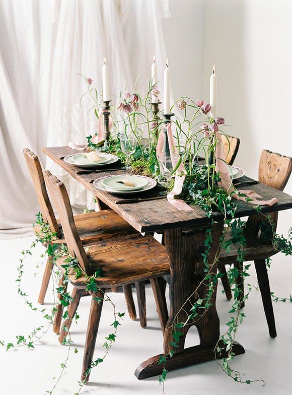 Urban Boho Wedding wedding table styling