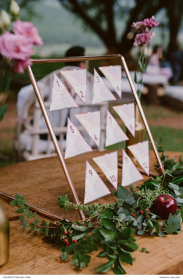 wedding seating plan triangles
