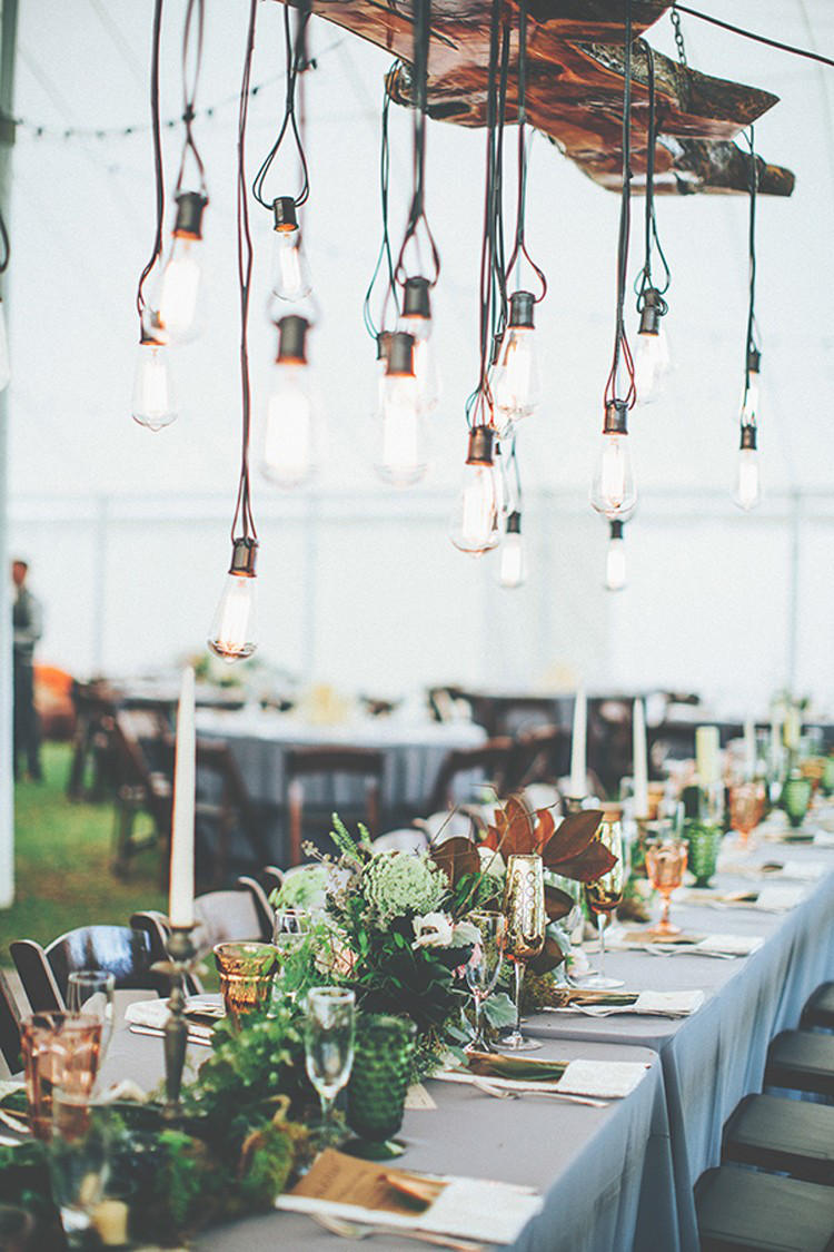 Edgy Lighting Ideas for Your Wedding Edison Lights