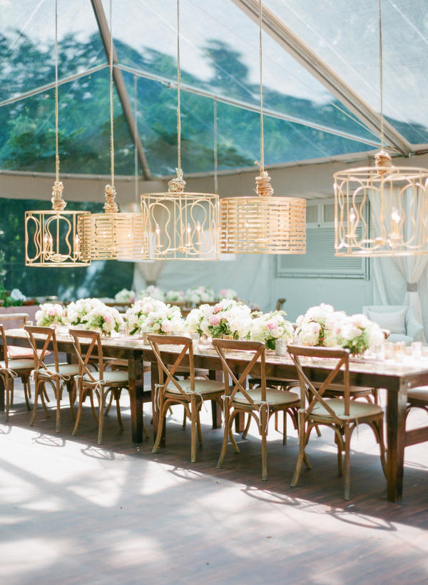 Edgy Lighting Ideas for Your Wedding Lampshades