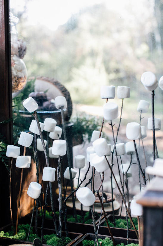 delicious wedding food marshmallow styling