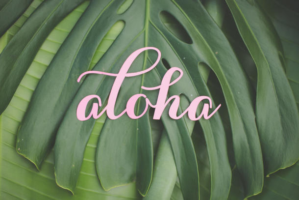 tropical wedding aloha