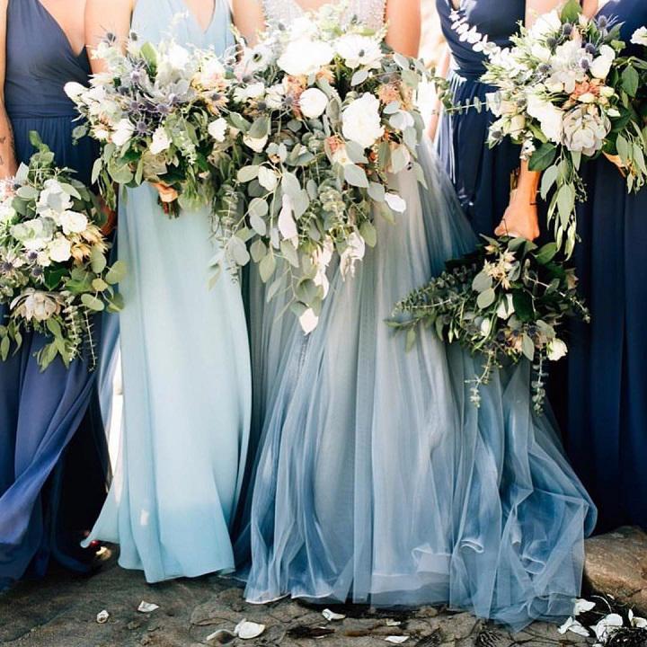 Midnight blue bridal options