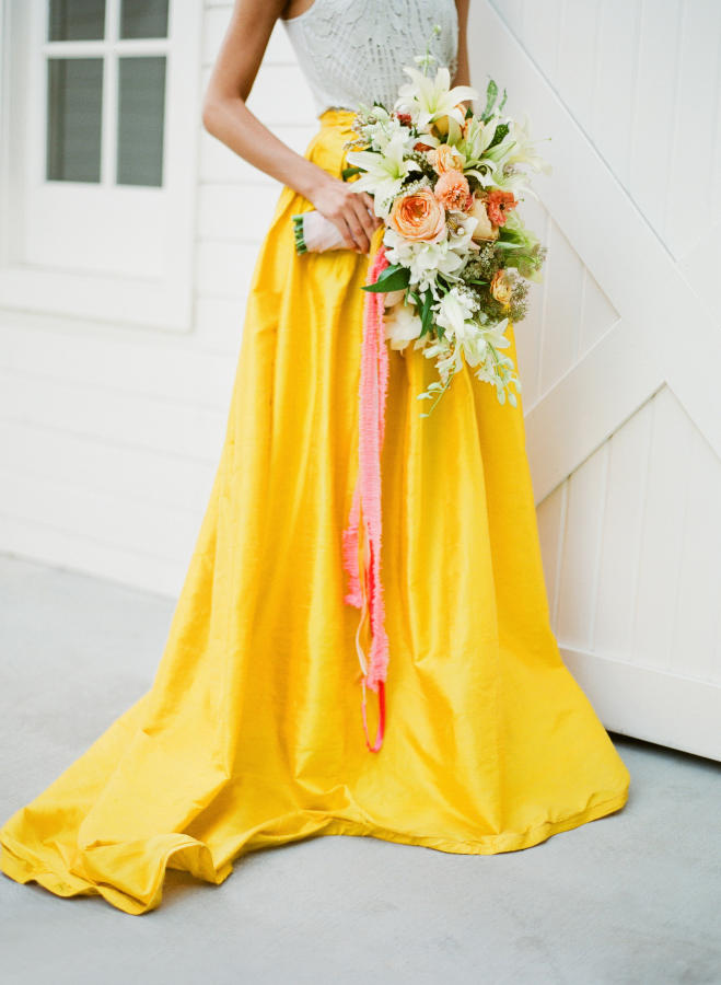 tropical wedding bright bridal bouquet