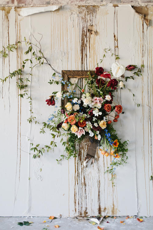 Warehouse wedding floristry idea
