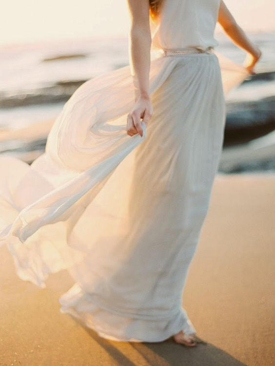 Bridal Separates Grecian skirt