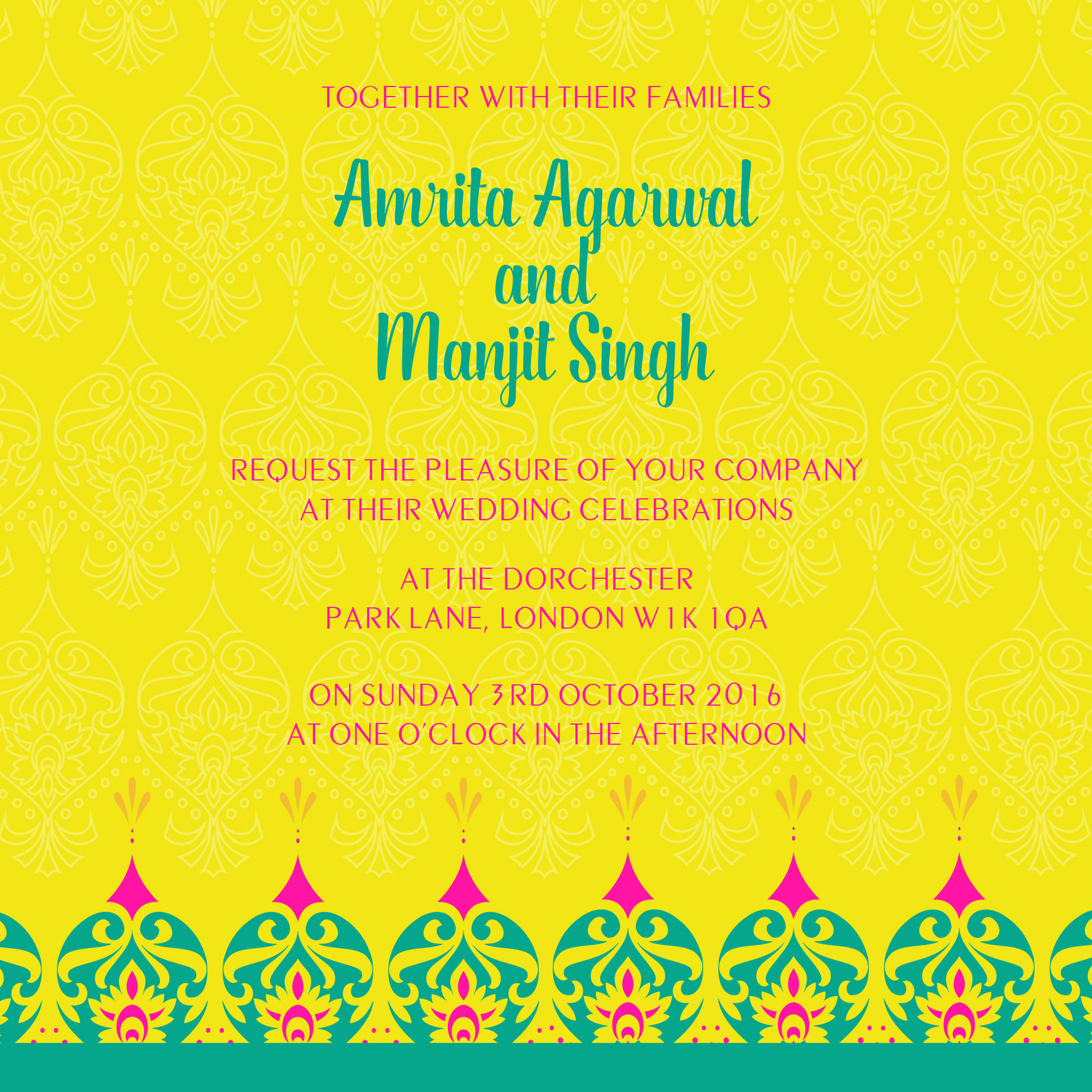 bright fiesta wedding stationery