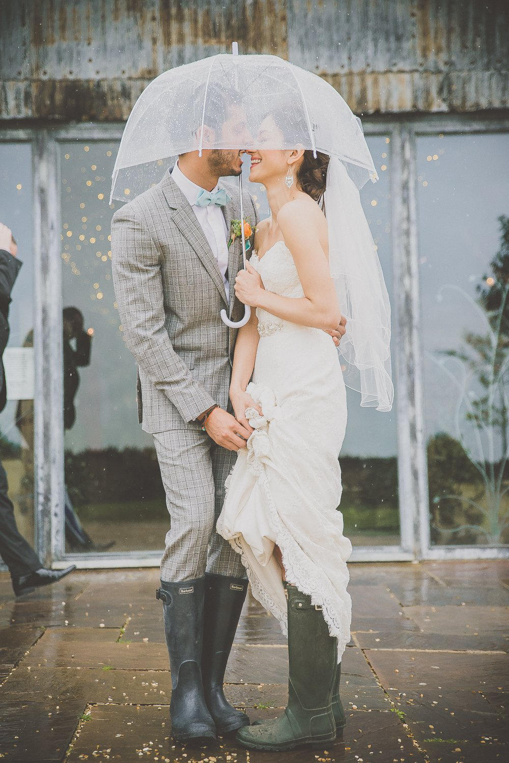 Autumn Wedding in the rain