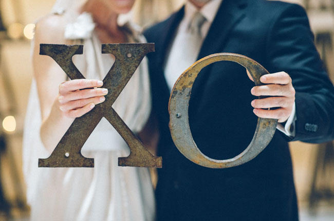concrete industrial wedding styling idea