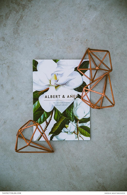 Greenhouse wedding invitation idea