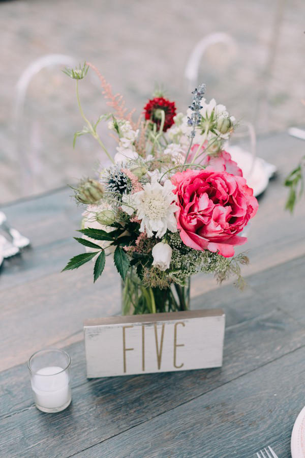 romantic industrial table setting