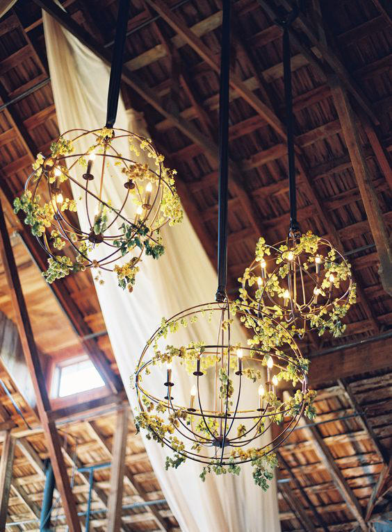 Edgy Lighting Ideas for Your Wedding Floral Metalwork