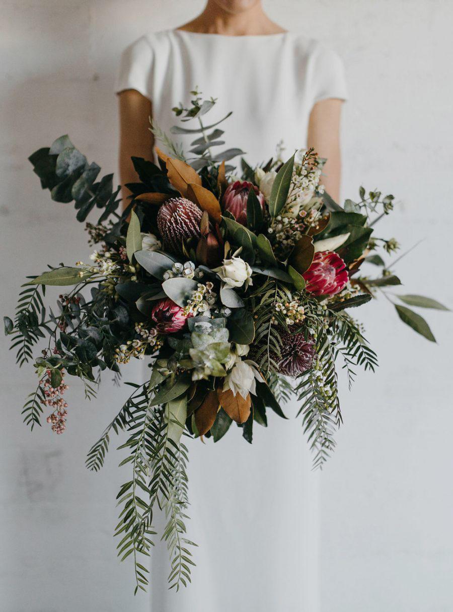 tropical wedding large bridal bouquet
