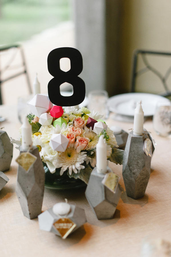 wedding concrete elements table styling idea