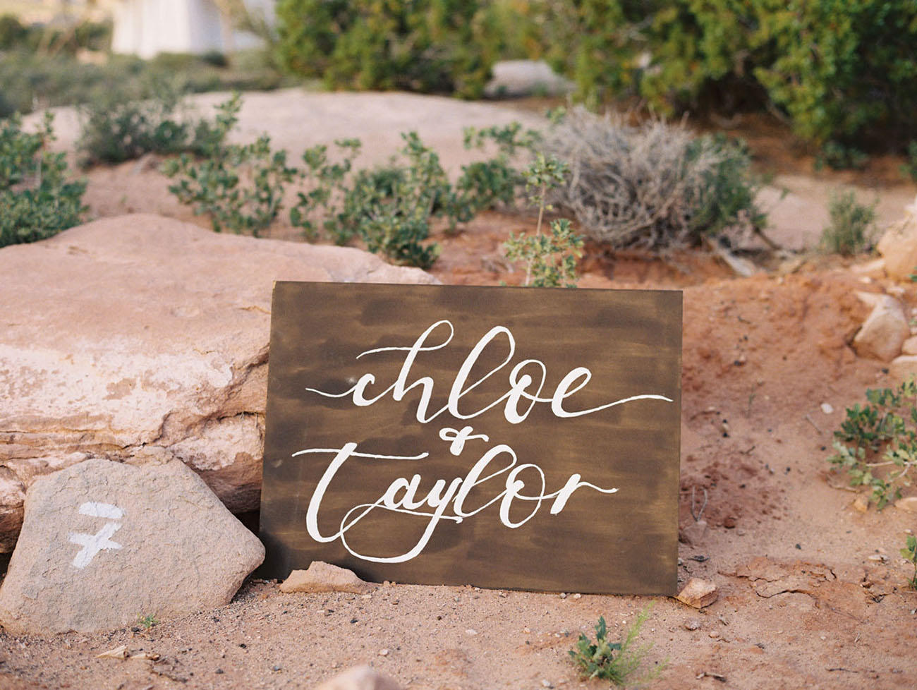 Coachella Festival Wedding name board
