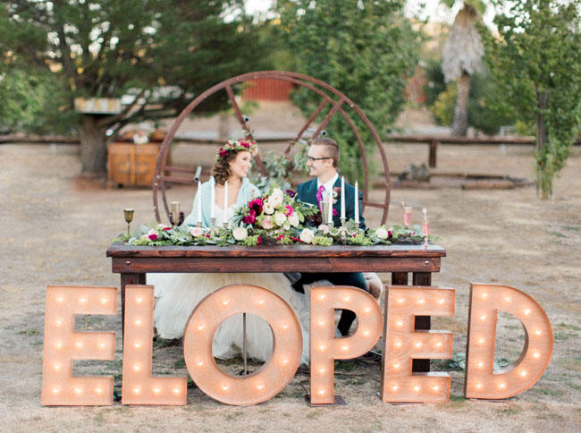 wedding traditions eloped bride and groom