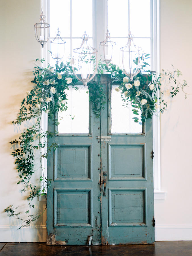 decorated doorway wedding ceremony backdrop