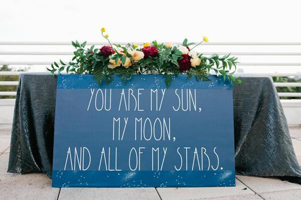 celestial wedding ideas statement sign