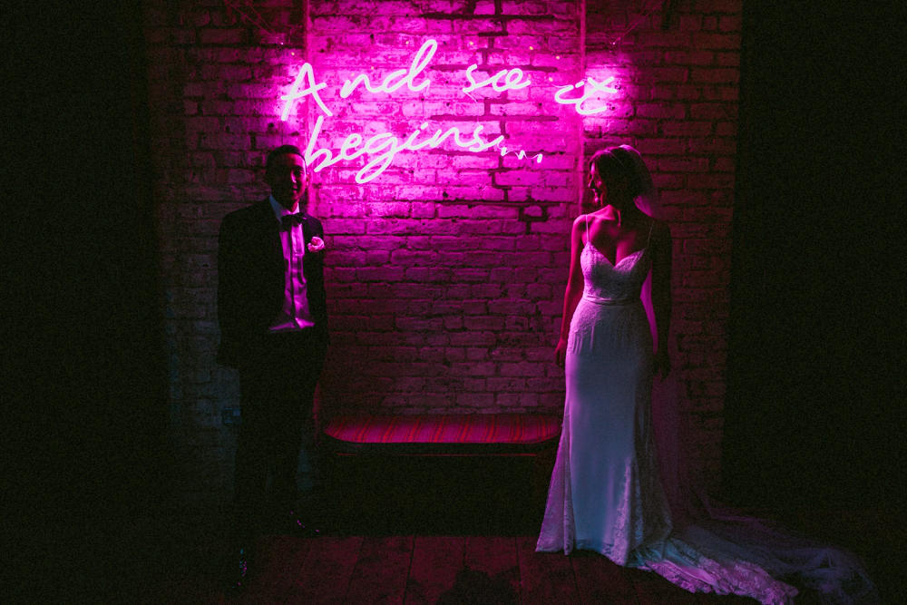 London Wedding Planner nightclub neon
