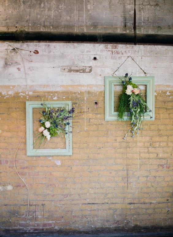 frames for a warehouse wedding