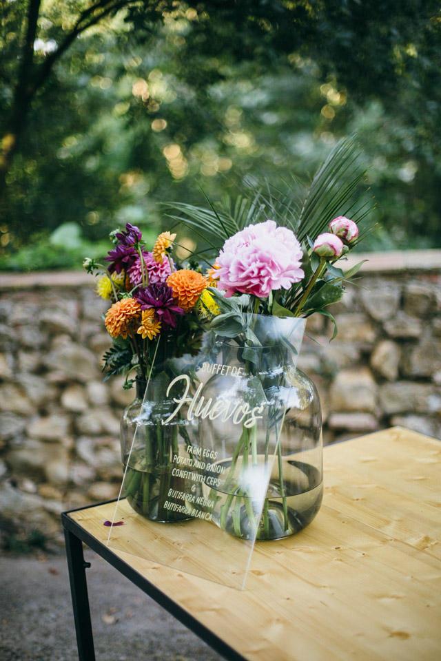Wedding table menu ideas