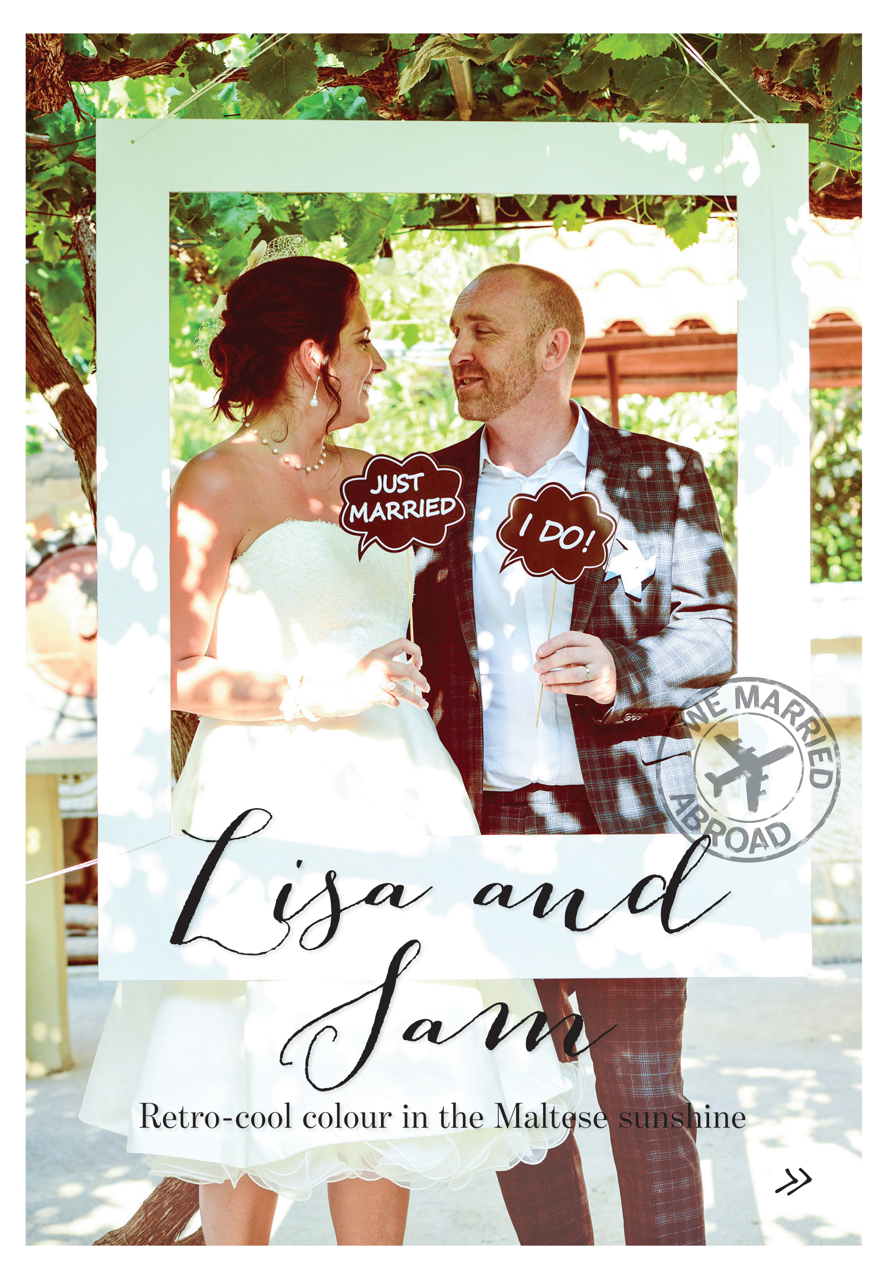 Featured our own wedding