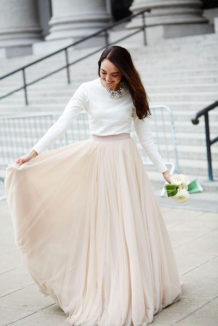 Bridal Separates long sleeve look