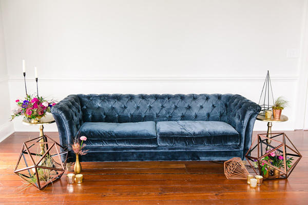 Wedding Lounge Rea Velvet Sofa