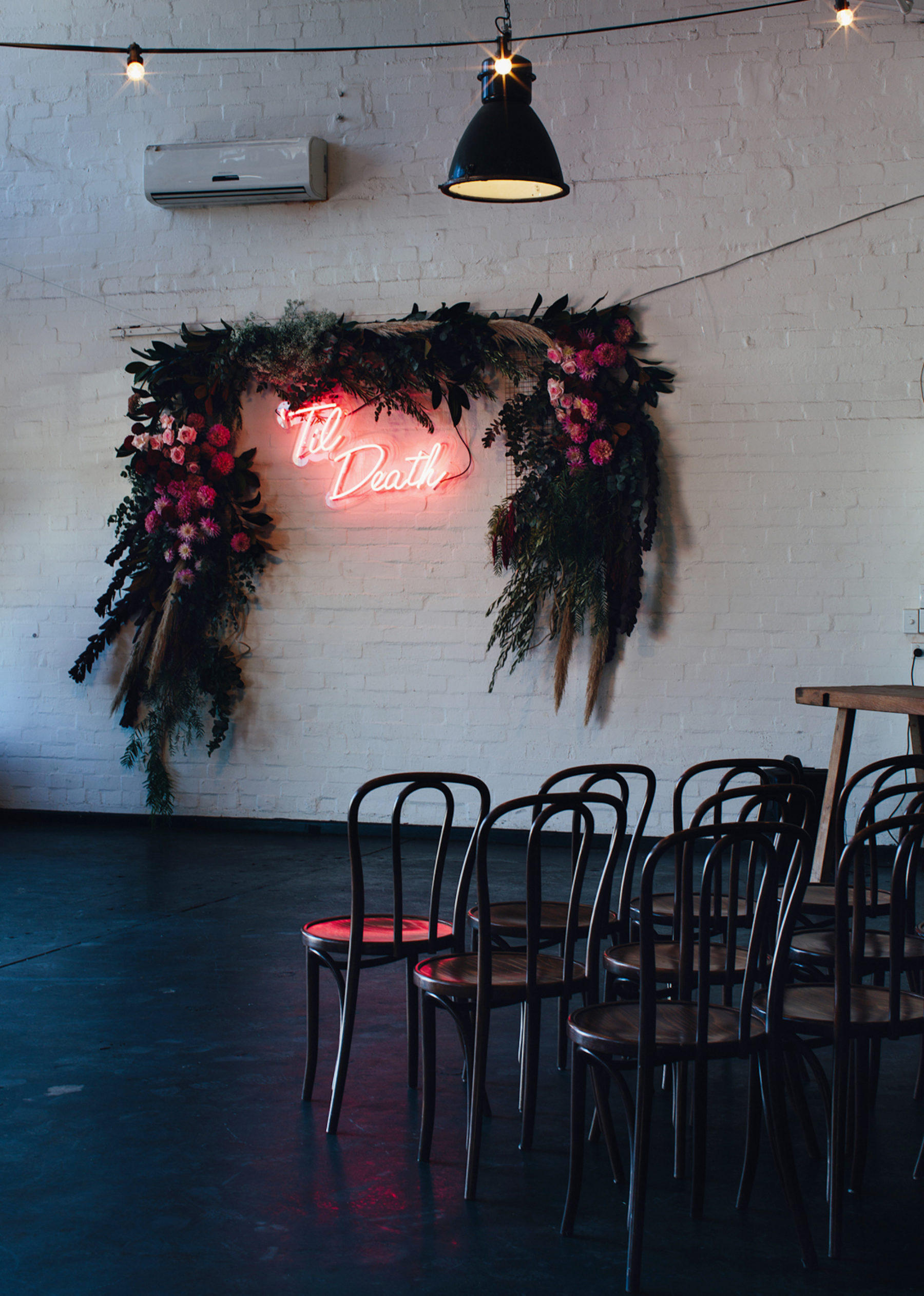 Wedding dance-floor neon sign